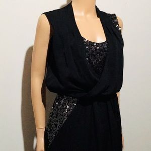 Vince Camuto Black Sequined Midi Dress (4)